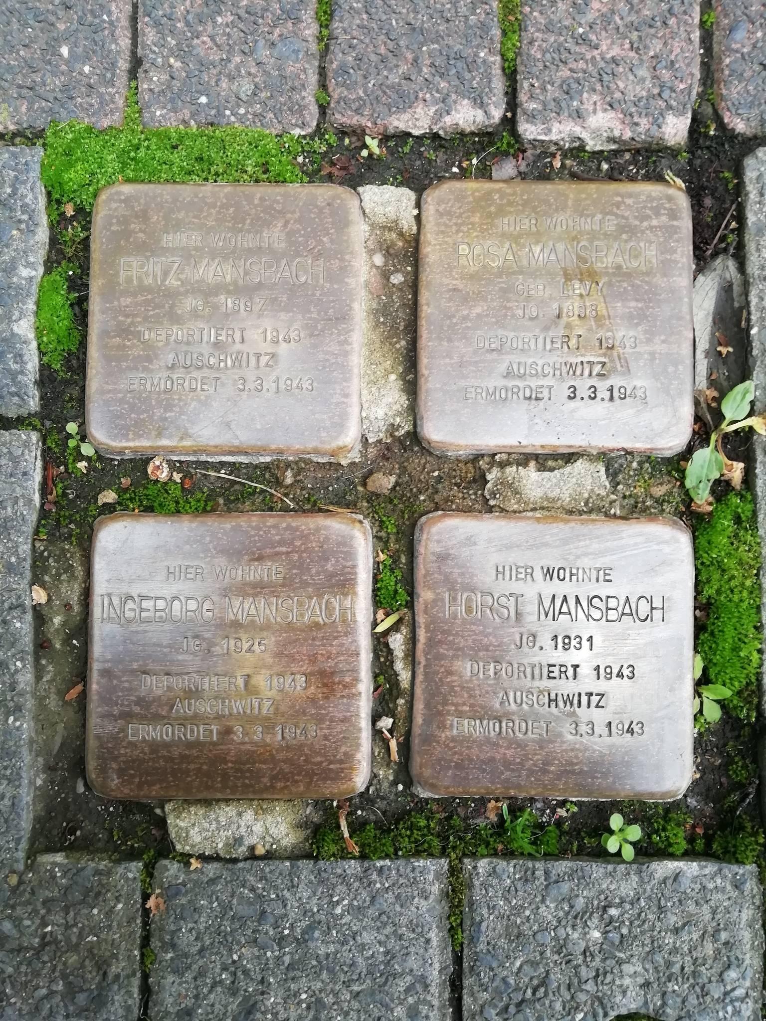 Stolpersteine: Stadt Gerolstein - Offiziell